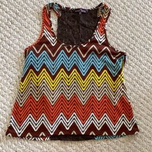 Colourful tank top!